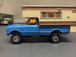 100 1970 Chevy Pickup Truck Custom C10 4x4 Camper Greenlight Ertl Farm