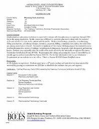Letter Re mendation Elegant Pharmacy Technician Letter