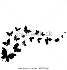 Butterfly Silhouette Stock s &
