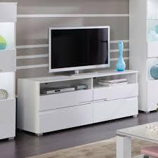 details zu tv board schrank lowboard spice wohnzimmer kommode weiß hochglanz mdf 140 cm