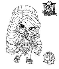 Amazing Monster High Coloring Pages Baby 42 About Remodel For Adults With