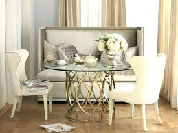 Dining Tables With Bench Room Table Back Upholstered