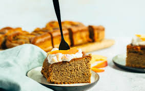 einfacher rührkuchen mit pfirsichen