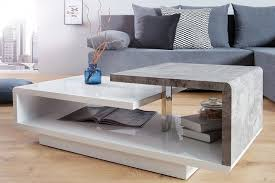 stylischer design couchtisch concept 100cm hochglanz weiß