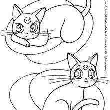 Sailor Pluto Cats Artemis And Diana