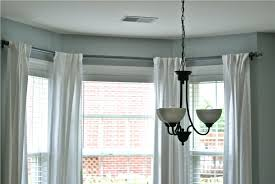 144 To 240 Inch Adjustable Curtain Rod by Ceiling Mount Curtain Rod For Bay Window Decoration And Curtain