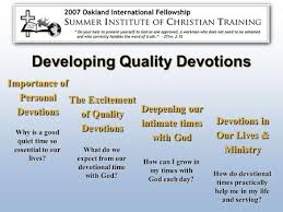 Importance Of Personal Devotions The Excitement Quality Deepening Our Intimate Times With God