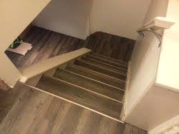 Vinyl Flooring On Stairs Tile Luxury Plank Resilient Grand Rapids Wood Trafficmaster Allure