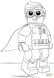 Robin Coloring Page Lego Free Printable Pages Online