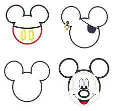 Mickey Mouse Pumpkin Stencils Free Printable by Mickey Mouse Outline Png Of Body Library Head Template Tattoo