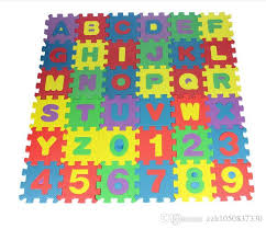 children s soft puzzle mat baby play carpet puzzle number