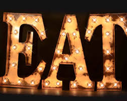 marquee letter eat sign cafe sign lighted marquee sign marquee