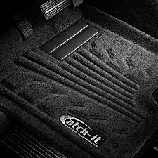 Black Auto Carpet by Lund 583030 B Catch It Carpet 1st Row Black Floor Liners