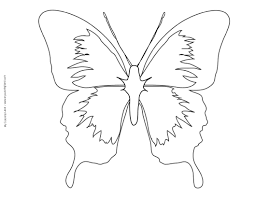 Swallowtail Butterfly To Color