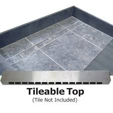 redi trench shower pan 36 x 60 right linear drain single curb