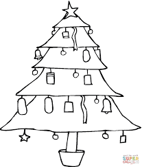 Christmas Tree Coloring Books by Christmas Tree Coloring Page Free Printable Coloring Pages