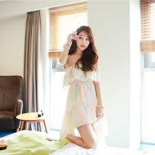 Korean Summer Lotus Leaf Chiffon Skirt Beach Dress SD02478