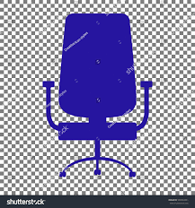 Office Chair Sign Blue Icon On Transparent Background