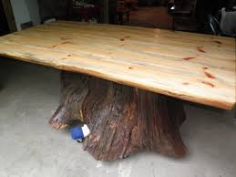 Custom Made Real Oak Tree Trunk Kitchen Dining Table