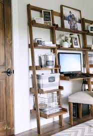 ana white leaning ladder wall bookshelf diy projects