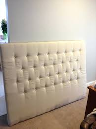 White King Headboard Upholstered by California King Upholstered Headboard Trends With White Fabric