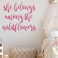 Amazoncom Girl Wall Decals She Belongs Among The