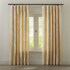 kendal yellow striped curtains crate and barrel