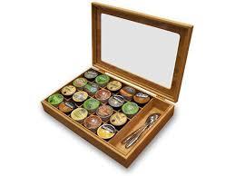 Keurig K Cup Bamboo Coffee Capsule Organizer Display Box