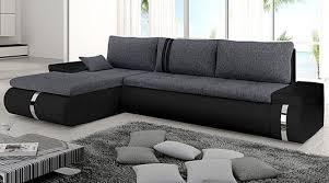 canapé angle convertible tissu canapé angle convertible tissu gris et noir bose lestendances fr
