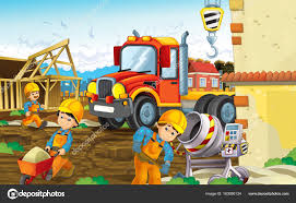 100 Heavy Truck Games Construction Site With Heavy Truck And Workers Stock Photo