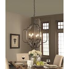 Pleasurable Ideas Bronze Dining Room Chandelier Luxurious Delightful Fresh Light Artistic Glamorous Drum Shimmer Shaded Scroll