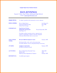 exles of high school resumes for college resume exles and
