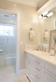 Paint Color For Bathroom With Beige Tile by Wall Paint Color Berber By Benjamin Moore Trim And Cabinets