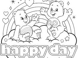 Happy Day Care Bears Coloring Page
