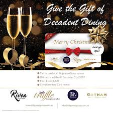 CHRISTMAS GIFT VOUCHERS We Have The Perfect Gift For That Friend Or Family Member Who Loves