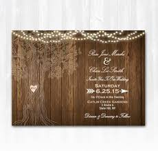 Ordered Template Rustic Tree Wedding Invitation DIY PRINTABLE Digital File Or Print Extra Wood String Lights