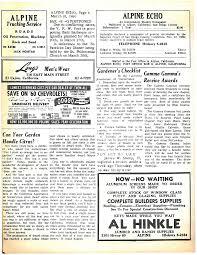 Alpine, California Thursday, March 10, 1960 AREA ALPINE'S DATE BOOK ...