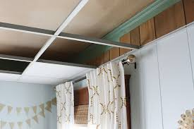 how to easily update an drop ceiling robb restyle