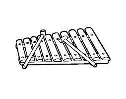 A Xylophone Coloring Page