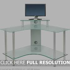 awesome glass corner computer desk black glass corner computer