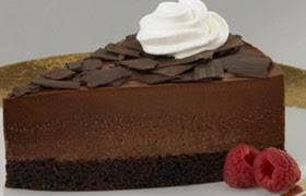 Belgian Chocolate Mousse Cake Slice