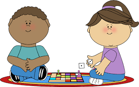 Diversityfamily Playing Board Games Clipart