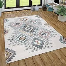 paco home teppich wohnzimmer kurzflor geometrisches muster skandi boho modern style grösse 160x230 cm farbe mehrfarbig
