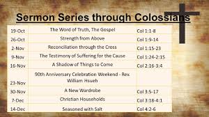 100 Col 1 Ossians 8 ESV Paul An Apostle Of Christ Jesus By The Will
