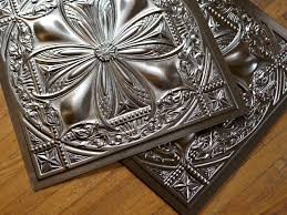 decor stunning metal faux tin ceiling tiles design ideas with