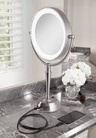 zadro 10x 1x cordless led lighted vanity mirror cernel designs