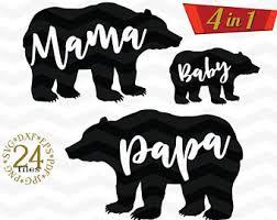 80 Off Mama Bear Papa And Baby SVG