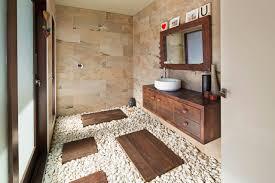 kieselsteinboden im bad so gelingt der natürliche spa look