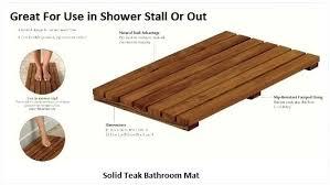Teak Wood Shower Mat Bathroom Floor Round