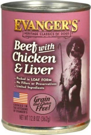 Evanger's Canned Dog Food - Beef With Chicken & Liver, 13oz